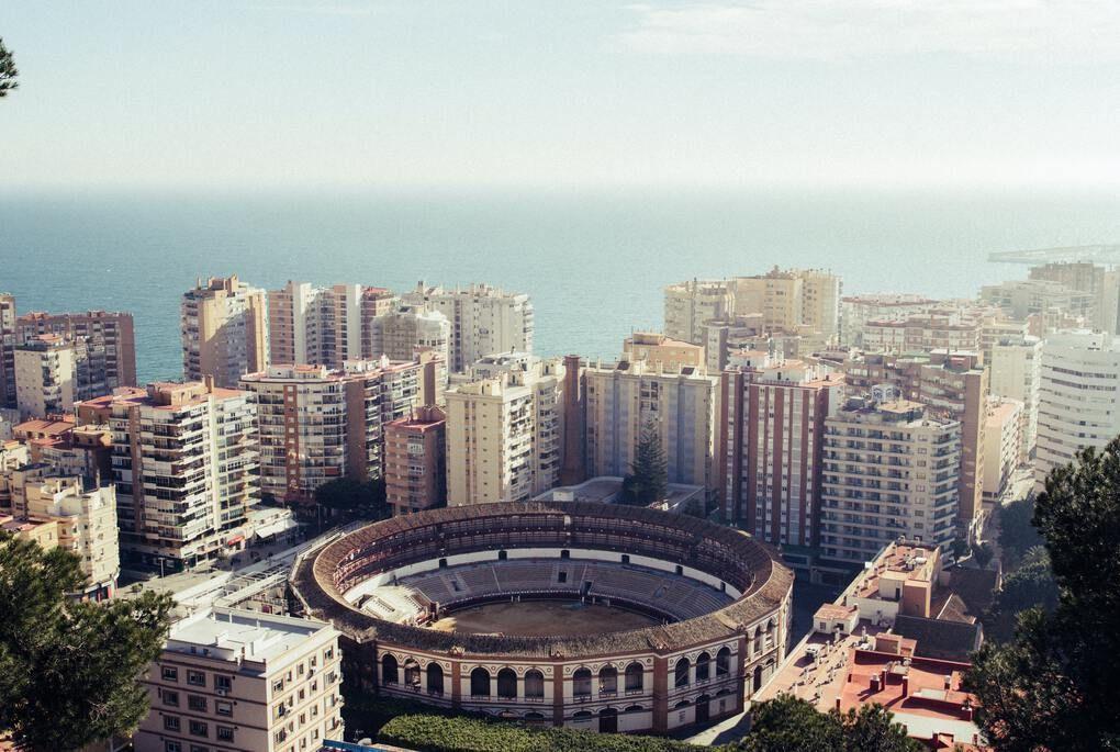 Round stadium in Malaga