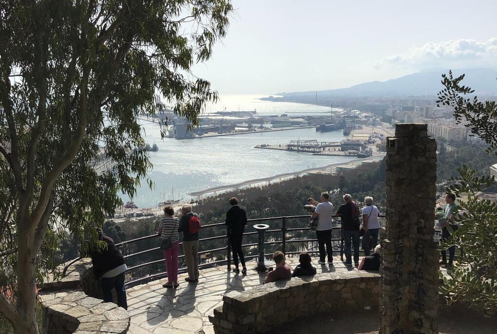 Platform overlooking Malaga
