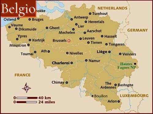 Mappa Belgio