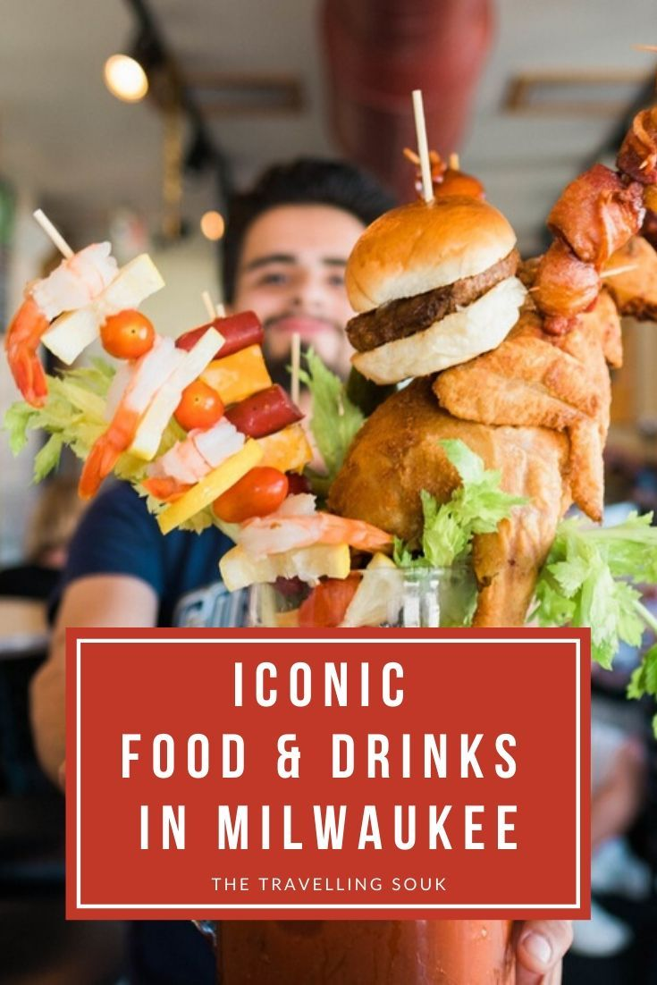 Iconic Food & Drinks in Milwaukee Pinterest Cover
