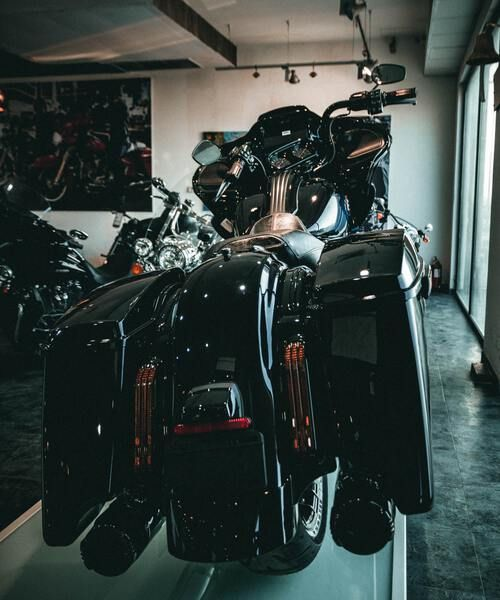 Harley-Davidson motorcycle at the Milwaukee museum