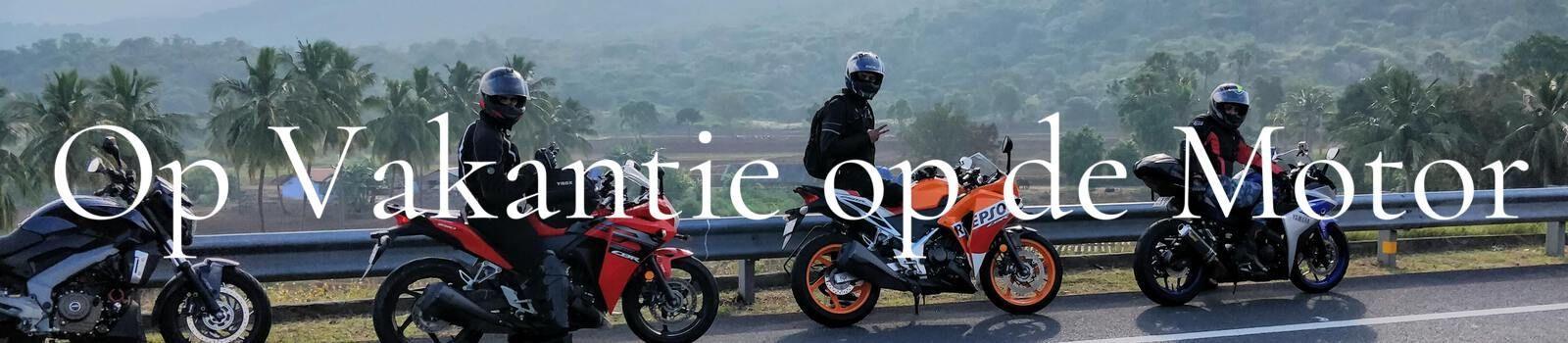Op vakantie met de motor banner