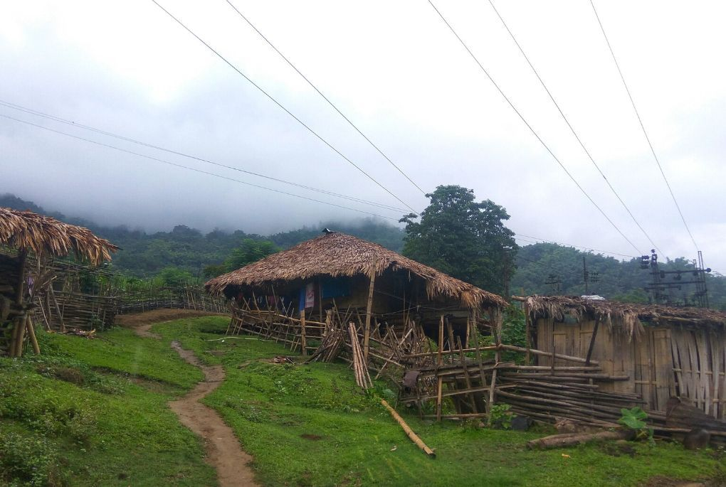 Wooden huts in Northern India