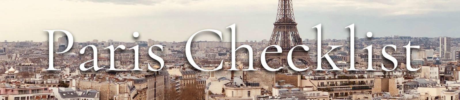 Paris checklist banner