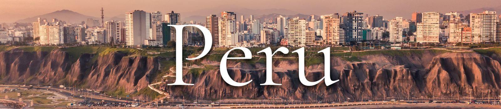 Stadsaanzicht Peru