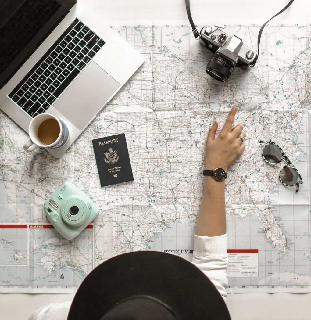 Map travelling