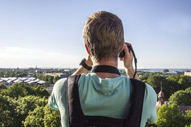 Fotograf im Urlaub