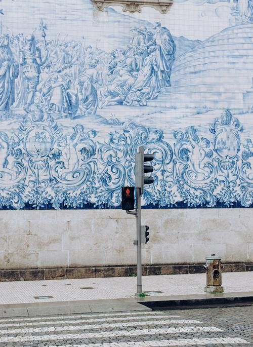 Blue walls in Porto