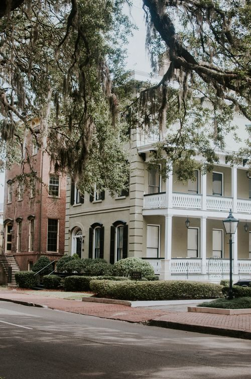 Classic Savannah historical buildings