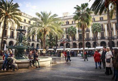 Spanje Barcelona plein