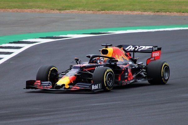Max Verstappen in Formule 1 Red Bull Racing
