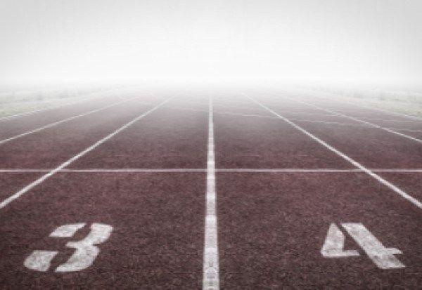 Atletiekbaan startposities