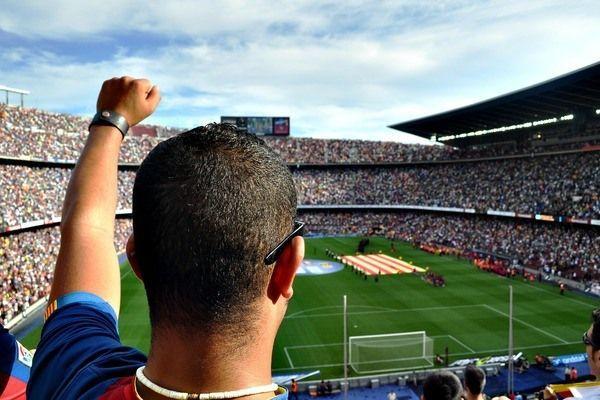 Voetbalsupporter Barcelona Camp Nou