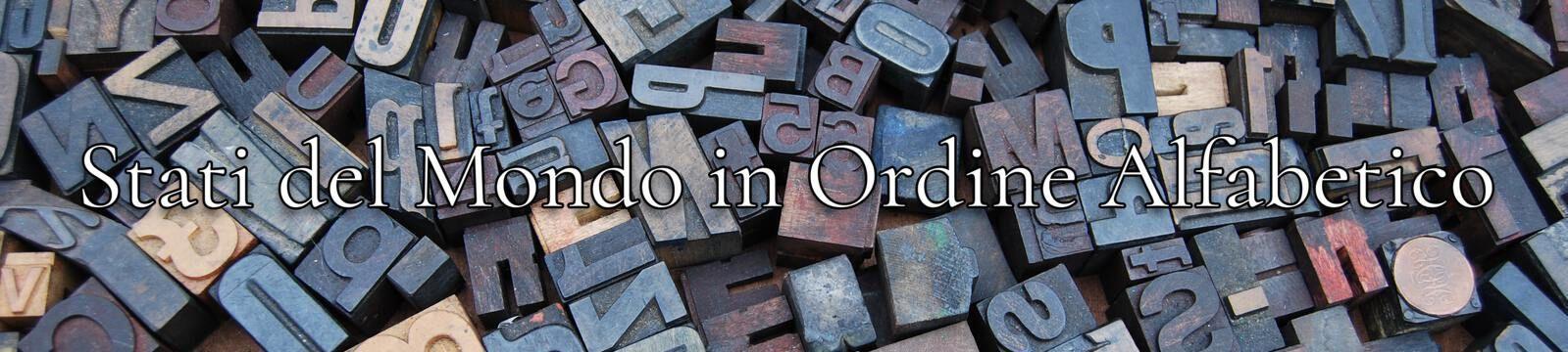 Stati mondo ordine alfabetico