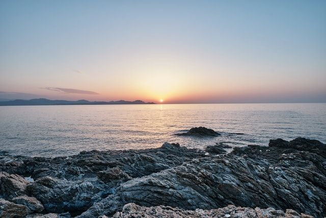 Watch the sunset on the French Riviera