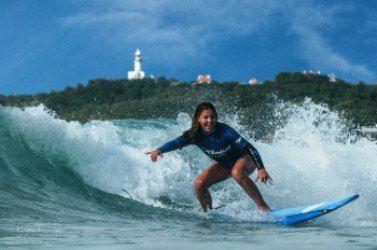 surfing bondi beach
