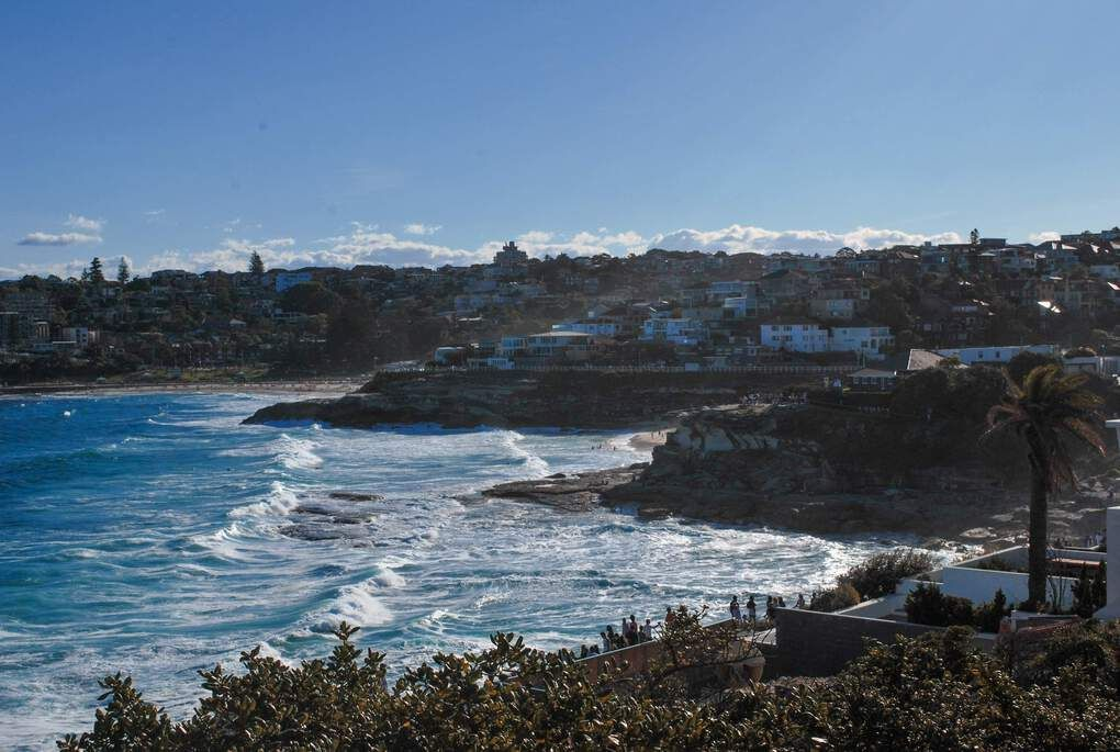 Coogee - view of the beach from the coastal path