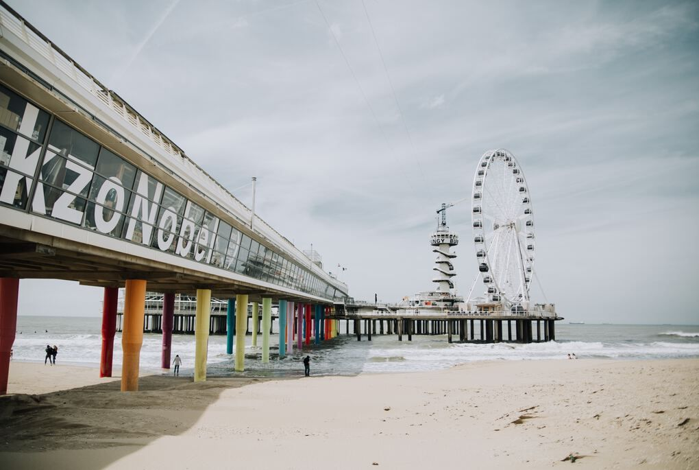 Spiaggia di Scheveningen vicino l aia olanda