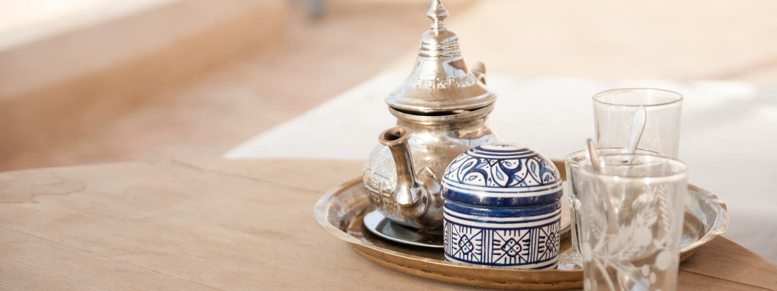 Thé dans un riad
