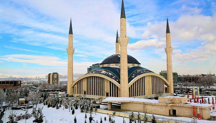 Hagia Sophia in de sneeuw