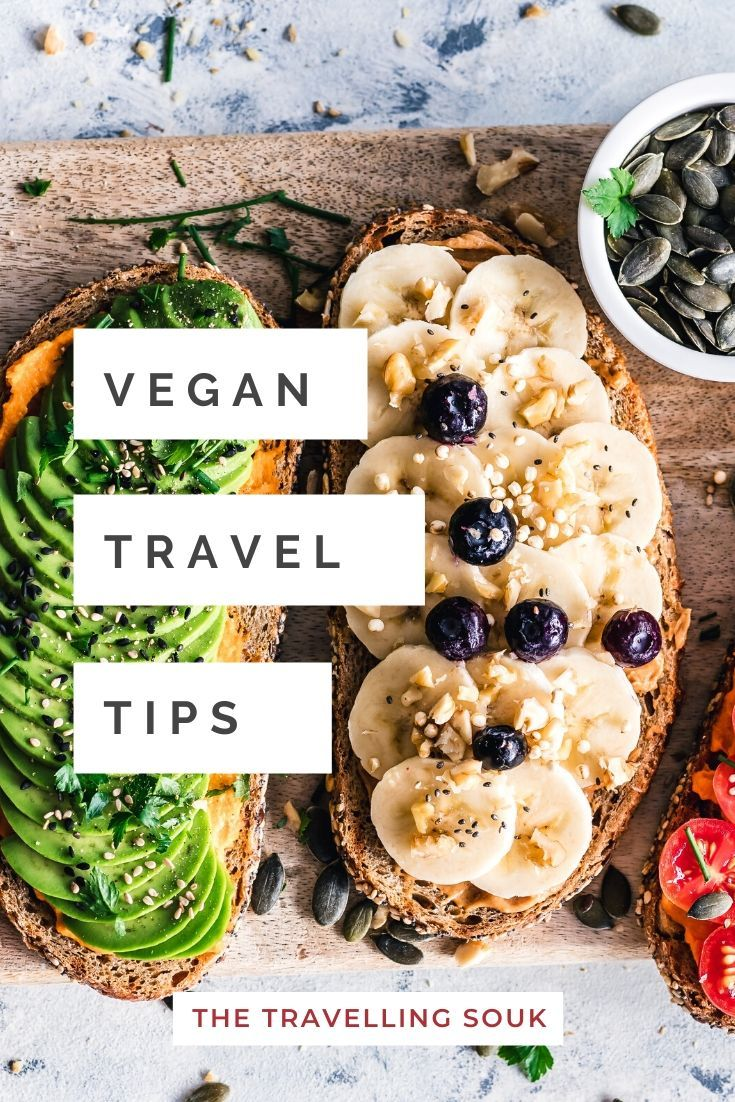 Vegan Travel Tips Pinterest Cover Photo