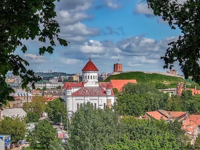 Climb Gediminas Hill in Vilnius