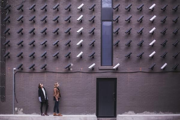 Camera's aan muur