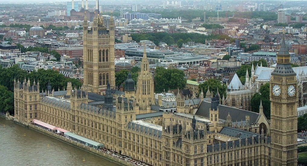 Westminster vue aerienne
