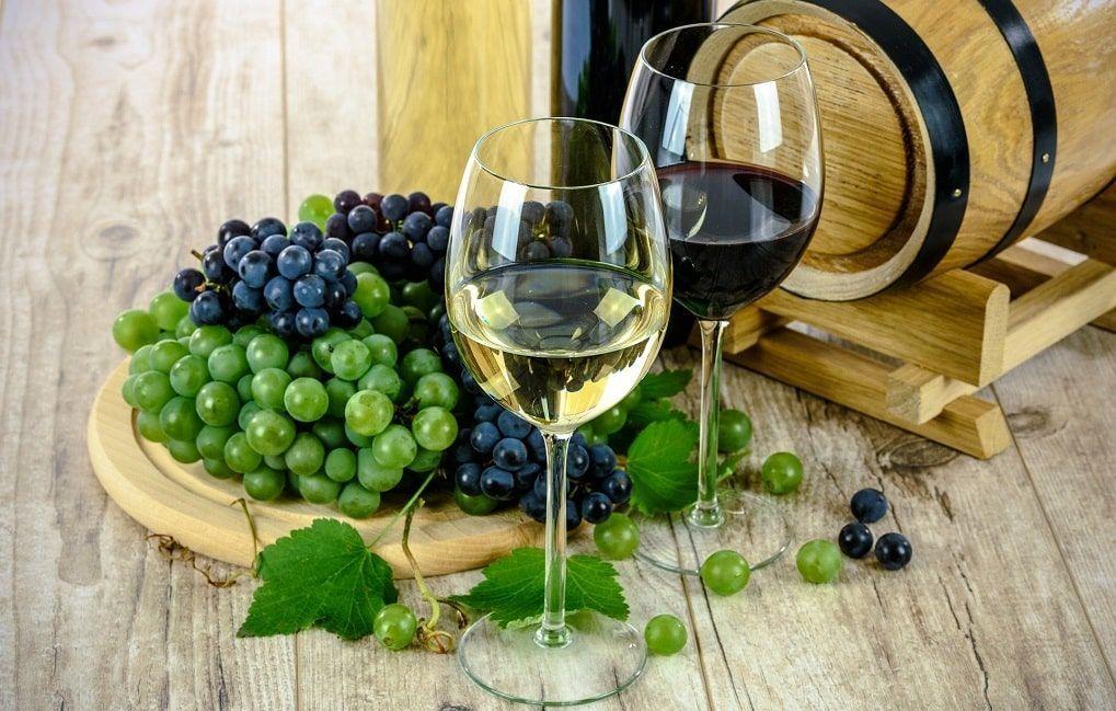 Vin blanc et rouge